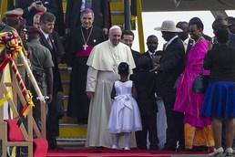 우간다 방문한 프란치스코 교황
