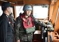 서해 NLL 군사대비태세 점검하는 정호섭 해군참모총장