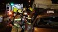 올림픽대로서 택시가 화물차 추돌 '2명 사상'