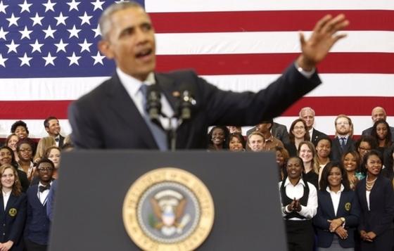 학생들, 오바마의 무슨 말에 폭소?