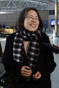 유럽으로 출국하는 김영란 전 국민권익위원장