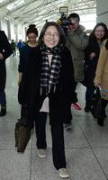 국제회의 참석차 출국하는 김영란 전 국민권익위원장