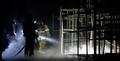 잔불 확인하는 소방당국