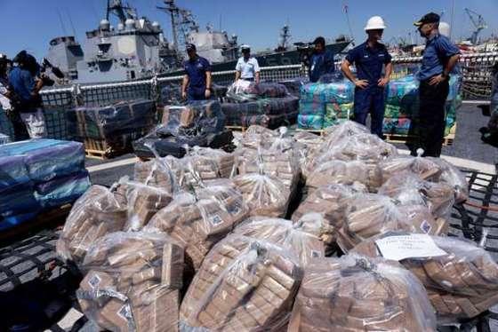 미해양경비대 압수 코카인 2만8천파운드