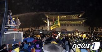 세월호 집회 물대포