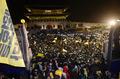 광화문 앞 세월호 집회 참가자와 경찰 대치