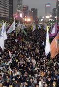 광화문 집결한 세월호 범국민대회 참가자들