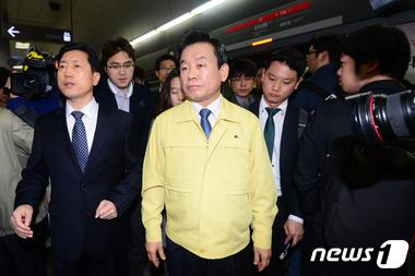 박인용 안전처 장관 '9호선 혼잡 문제는...'