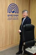 전체위원회 참석하는 이은철 원안위원장