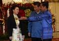 [사진]시진핑 부부 맞는 조코 위도도