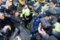 경찰에 연행되는 원전 반대 시위자