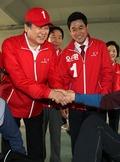 지지 호소하는 김무성 대표