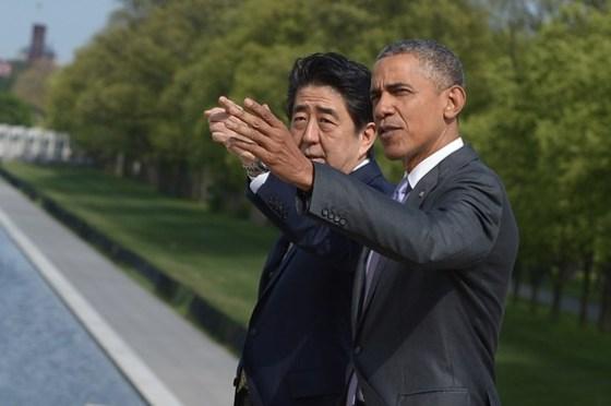 오바마-아베 '우리는  절친'
