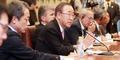 반기문 UN 사무총장 '박 대통령에 초당적 지지해야'