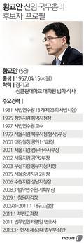 [그래픽뉴스] 황교안 신임 국무총리 후보자 프로필