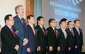 참석자들과 기념촬영하는 김진태 검찰총장