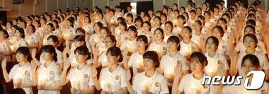 나이팅게일 선서하는 학생들