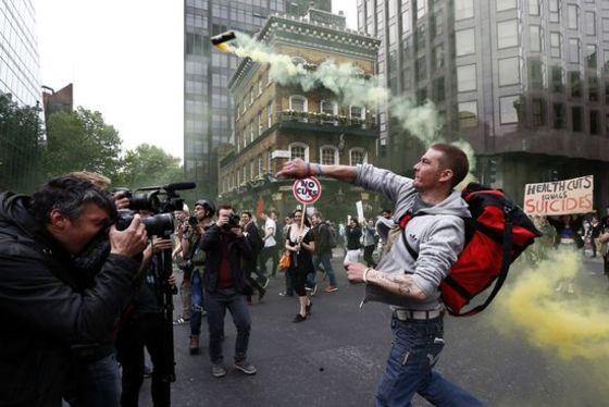 런던의 '긴축반대' 시위