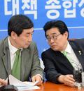 논의하는 이종걸-전병헌