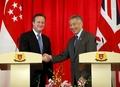 [사진]英총리, 싱가포르 방문