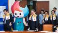 광주U대회 누리비와 입장하는 새정치 지도부