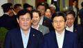 '화기애애' 국무위원들