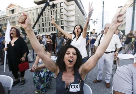 그리스 국민투표 압도적