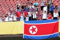 동아시안컵 北 응원단 '인공기 흔들며'