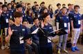 선서하는 DMZ대장정 대원들