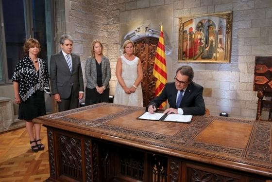 카탈루냐 조기선거 요구안 서명