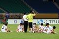 역전승한 北 여자 축구 '회복 훈련'
