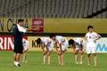 회복 훈련하는 北 여자 축구