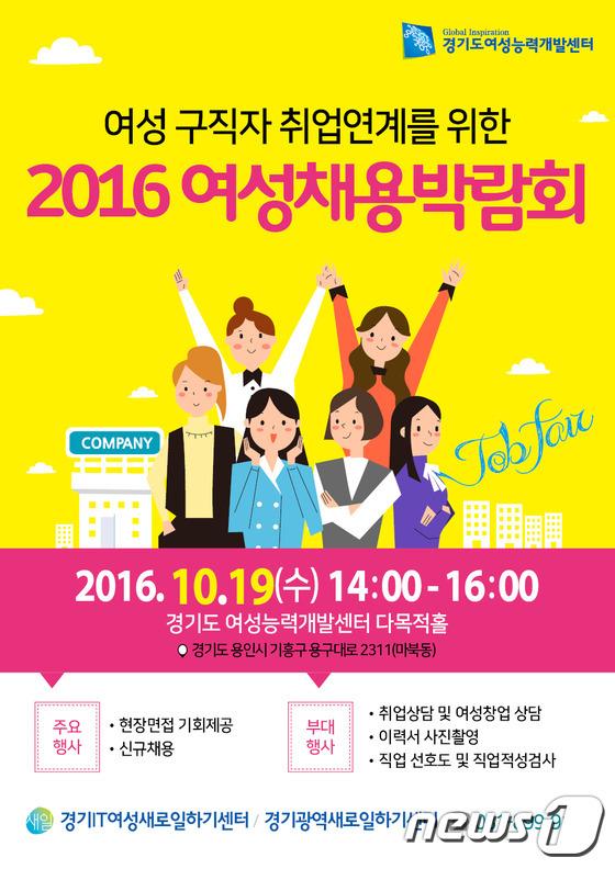 경기도, 19일 경력단절여성 채용박람회 열어