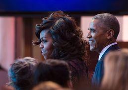 오바마 부부 백악관 축제 즐거워요