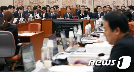 국회 교문위 또 파행 '국회 찾은 교육감들'