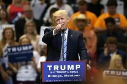 """트럼프 """"힐러리 나와라"""""""
