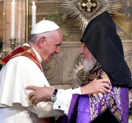 아르메니아 정교회 수장과 만난 교황