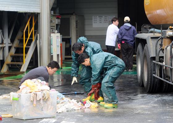 '구미공장에서 폐질산 3톤 누출'