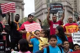 뉴욕의 이민개혁 촉구 시위