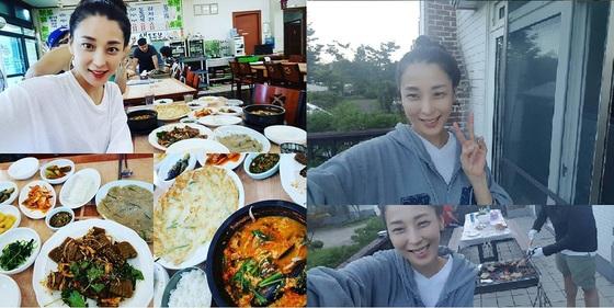 한고은, 늦여름 휴가 사진 공개…'행복한 일상'