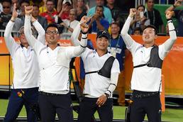 남자양궁 리우올림픽 첫 금 순간