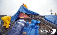 태풍 물폭탄 '엎친 데 덮친' 경주…지진 피해복구 난항