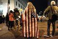[사진]내셔널몰 인근에 운집하는 反트럼프 시위대
