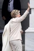 [사진] 트럼프 취임식 참석한 힐러리 클린턴