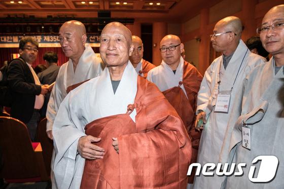 조계종 총무원장에 당선된 설정 스님