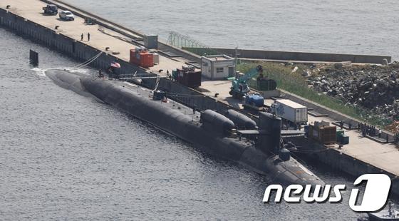 美핵잠수함 미시간호 \'부산항 입항\'