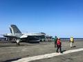 美 핵항모 동해상 훈련 '전투기 출격준비 끝'