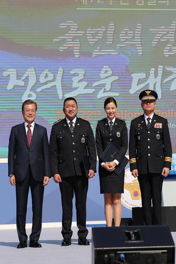 "[N1★이슈] 마동석 ""명예경찰 영광…사회에 도움 되겠다"" 소감"