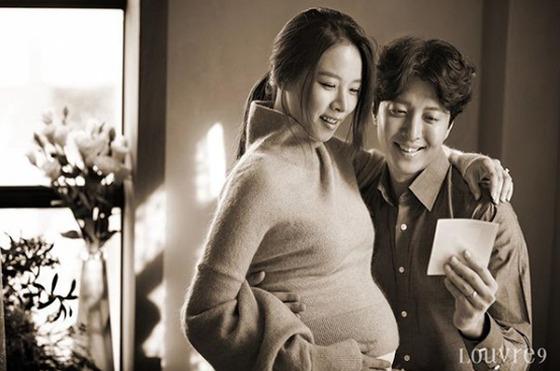 조윤희♥이동건 만삭화보…D라인에도 눈부신 미모