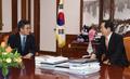 정세균 국회의장, 김동연 부총리 면담